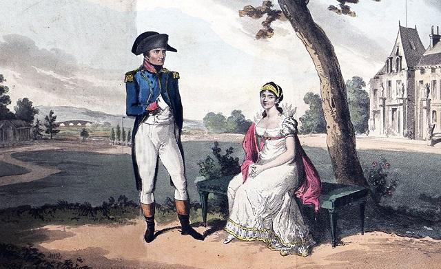 Наполеон и Жозефина в саду замка Мальмезон