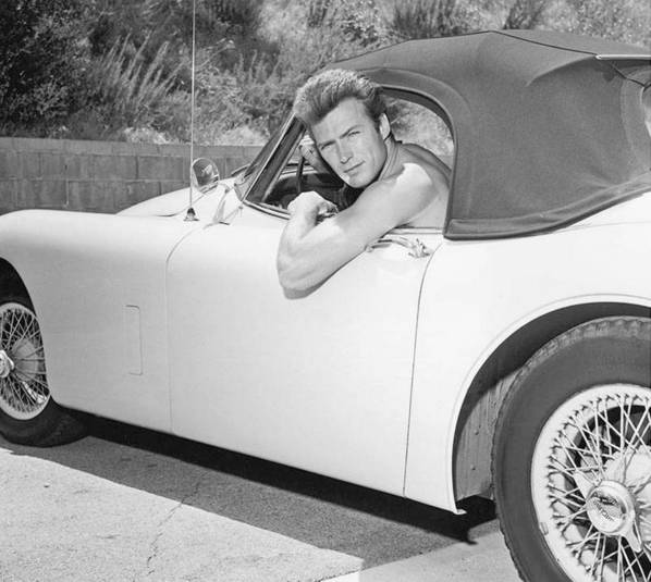 Clint Eastwood and his Jaguar XK150