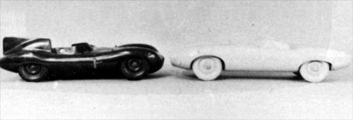 Jaguar D-Type and Jaguar E-Type prototypes