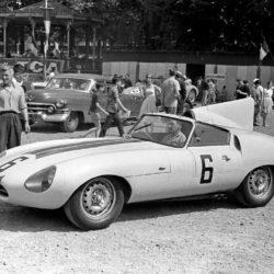 Jaguar E2A retro photo