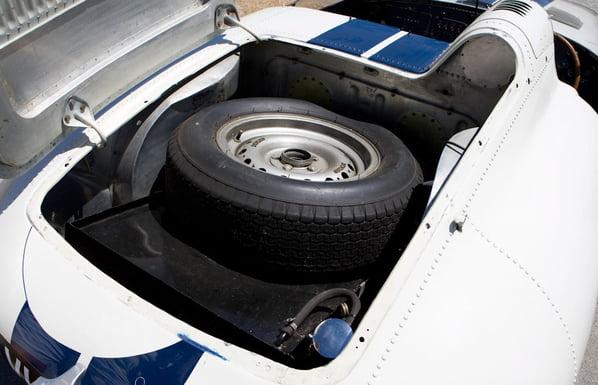 Jaguar E2A spare wheel