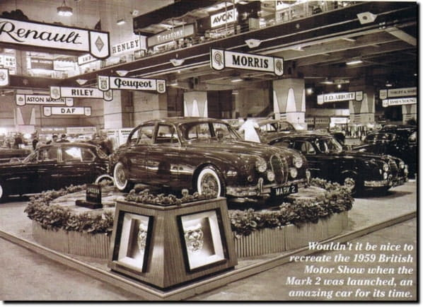 Jaguar Mk 2 on Earls Court Motor Show 1959