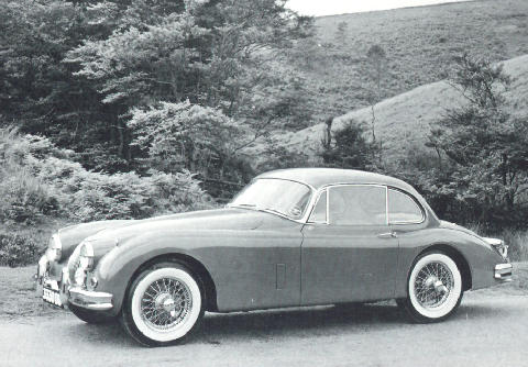 Jaguar XK150 old photo