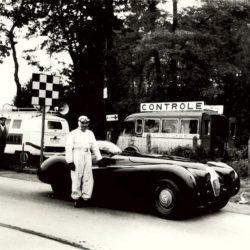 Norman Dewis and Jaguar XK120 Jabbeke Special
