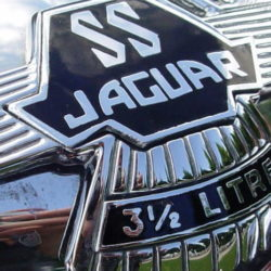 SS Jaguar 100 Saoutchik Roadster mascot