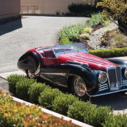 SS Jaguar 100 Van den Plas car