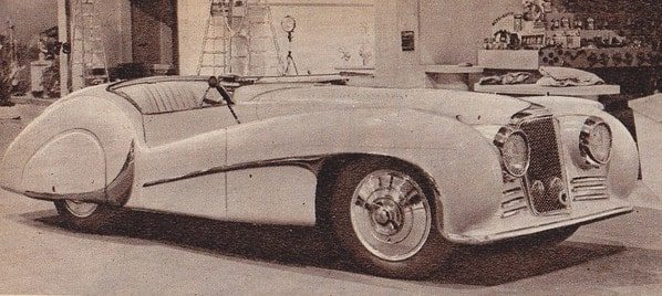 SS Jaguar 100 Van den Plas old photo