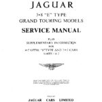 Jaguar E-Type 3.8 litre Series 1 service manual + 4.2 supplementary information