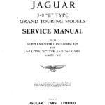 Jaguar E-Type 3.8 litre Series 1 service manual + 4.2 supplementary information