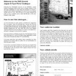 Jaguar E-Type parts catalogue