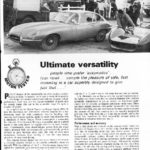 Jaguar XK-E 2+2 The Motor review - Ultimate Versatility 1966