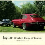 Jaguar XK-E 4.2 Coupe and Roadster (colour) 1966