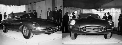 Jaguar E-Type closed demonstration on Geneva Motor Show - 15 march 1961