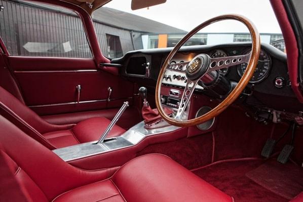 Jaguar E-Type Hard Top Coupe interior