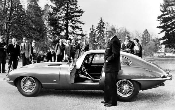 Jaguar E-Type on Geneva Motor Show - March 1961