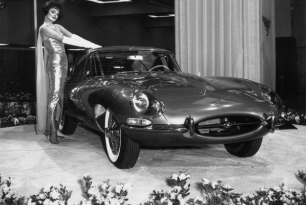Jaguar E-Type on New-York International Auto Show - April 1961