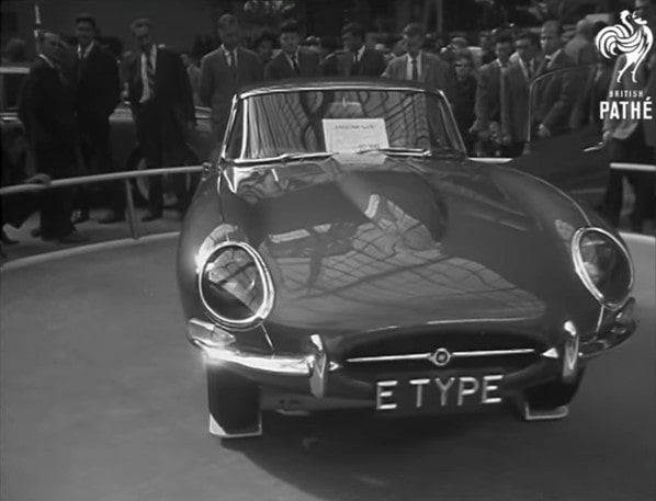 Jaguar E-Type on Paris Motor Show - 1961