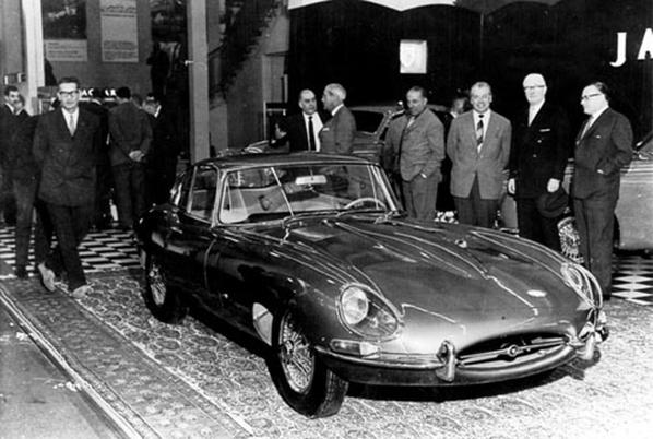 Jaguar E-Type Series 1 on Geneva Motor Show 1961