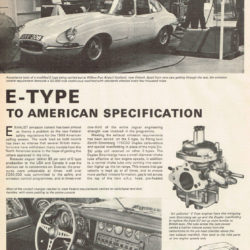 Jaguar E-Type Series 1.5 to American specification