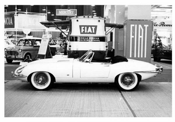 Jaguar XK-E Roadster on New-York International Auto Show 1961