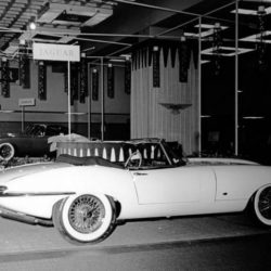 Jaguar XK-E Series 1 Roadster on New-York International Auto Show 1961