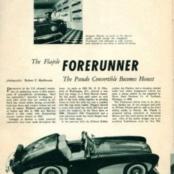 Road and Track October 1955 page 36 - Flajole Forerunner