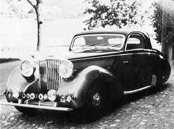 SS Jaguar Coupe by Graber old photo
