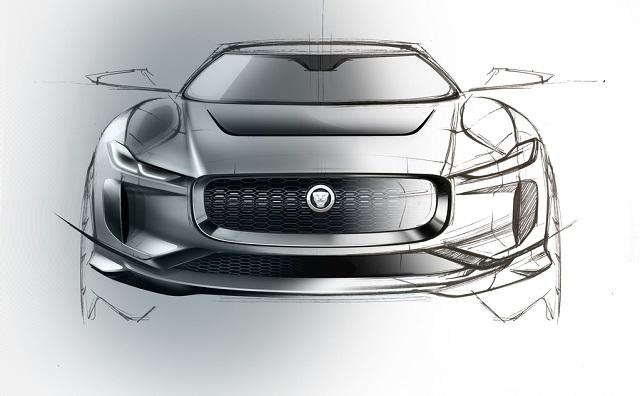 Jaguar I-PACE скетч концепт-кара
