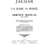Jaguar Mk X 3.8 litre Service Manual