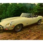 Jaguar XKE Convertible (USA) Postcard 1971