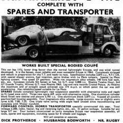 Dick Protheror transporter with Jaguar Low Drag Coupe CUT 7
