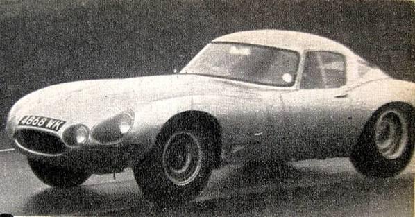 First version Jaguar E-Type Lindner-Nocker Low Drag Coupe
