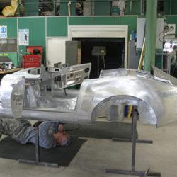 Jaguar E-Type Lindner-Nocker Low Drag Coupe body reconstruction