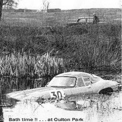 Jaguar E-Type Low Drag Coupe in Oulton park 1965