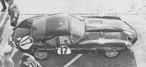 Jaguar E-Type Low Drag Coupe on Le-Mans 1964