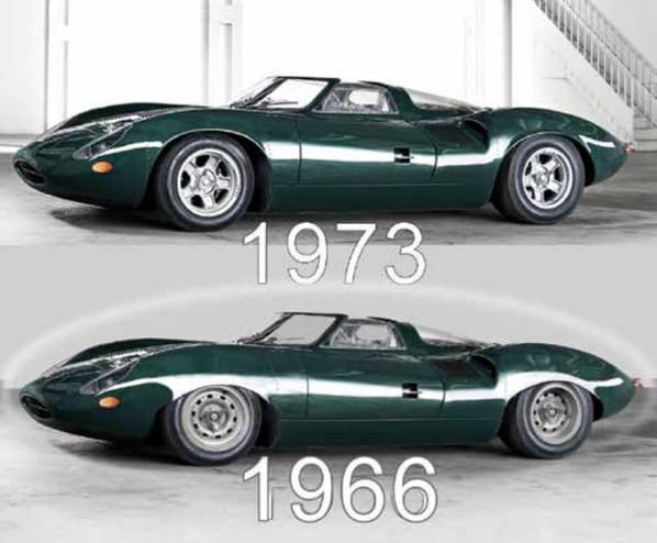 Jaguar XJ13 1966 and Jaguar XJ13 1973
