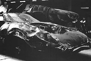 Jaguar XJ13 at Abbey Panels after crash