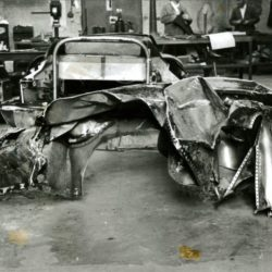Jaguar XJ13 body after crash in 1971