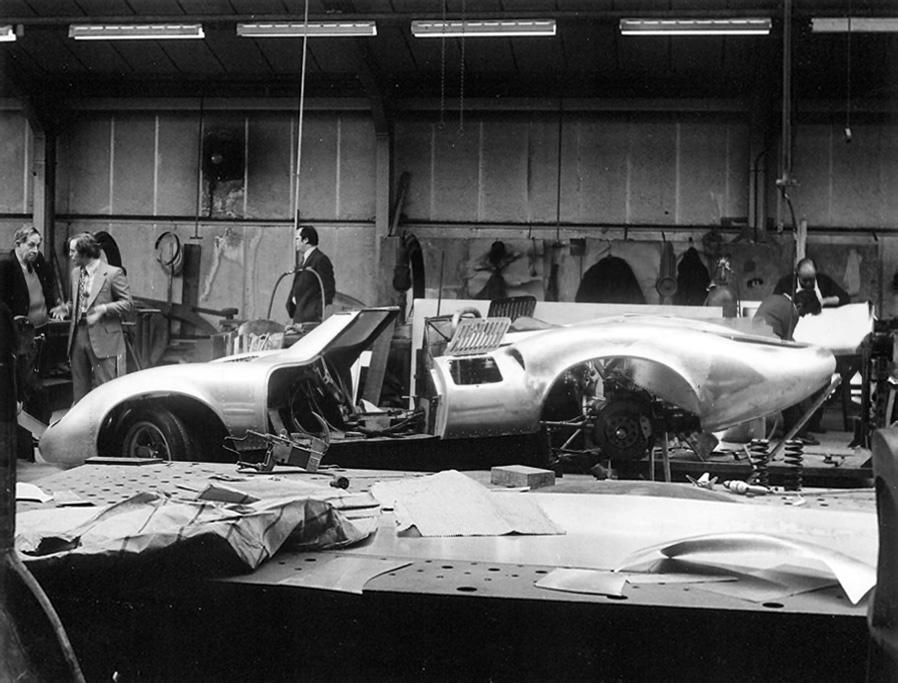 Jaguar XJ13 reconstruction in 1973