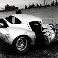 Peter Lindner Jaguar E-Type after crash