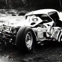 Peter Lindner Jaguar E-Type Low Drag Coupe after crash in 1964