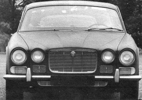 Final Jaguar XJ4 bonnet and grille