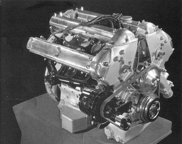 Jaguar V8 engine mock-up