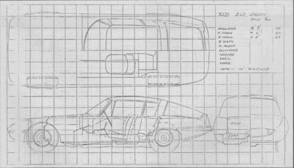 Jaguar XJ21 2+2 Family Coupe drawing