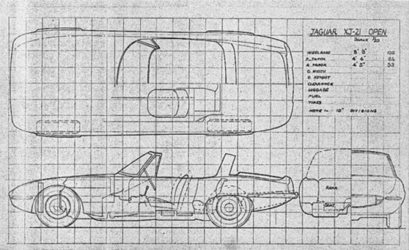 Jaguar XJ21 Open Two Seater drawing