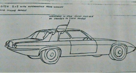 Jaguar XJ28 early drawing