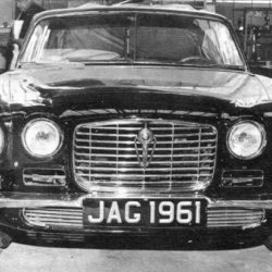 Jaguar XJ6 front view prototype