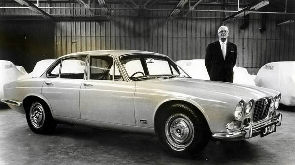 William Layons and Jaguar XJ6 in Royal Lancaster Hotel 1968