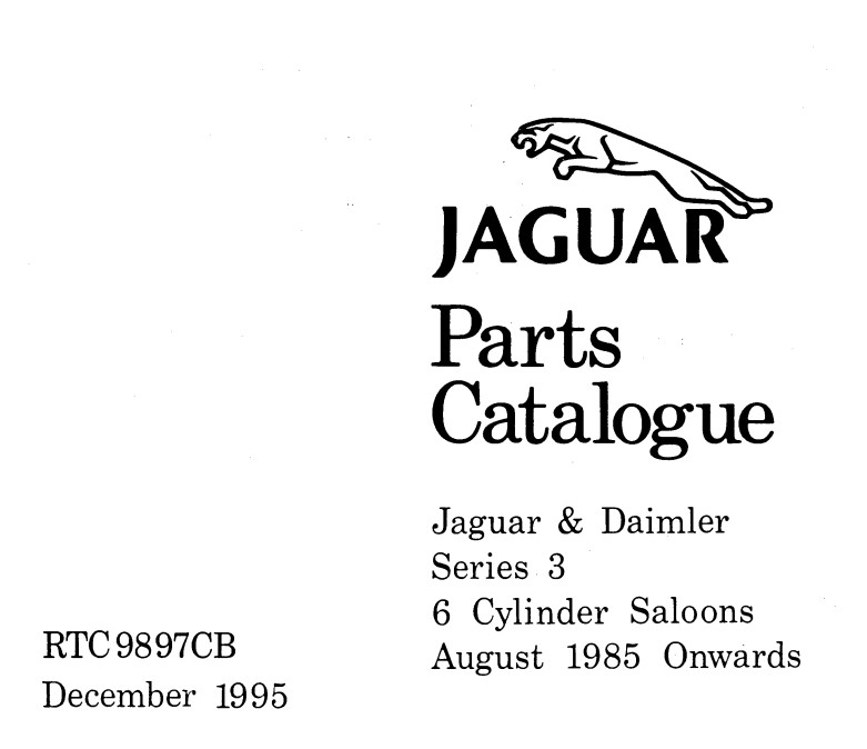 Jaguar and Daimler Series 3 Repair manual