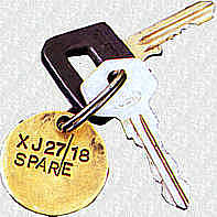 Jaguar XJ27 keys (Experimental 18)